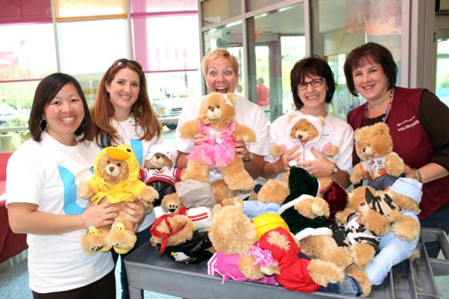 Delivering bears to children's hospitals
